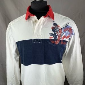 Polo RL Vintage Graphic Cloud Busters Rugby Shirt